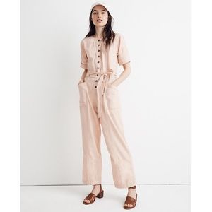 NEW Madewell l3295 Top-Stitched Coverall Jumpsuit